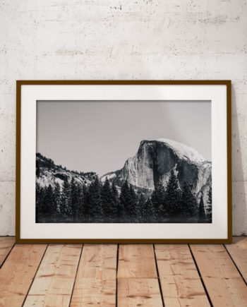 Gallery Print Yosemite Black And White Voorzijde