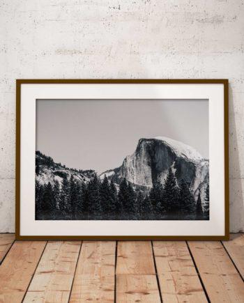 Gallery Print Yosemite Black And White Voorzijde