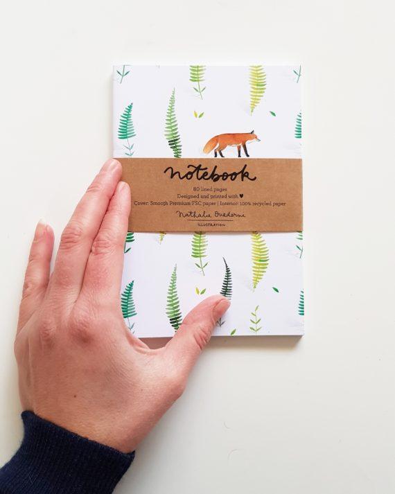 Duurzaam notebook met illustraties