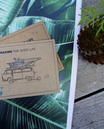 Coast card uit Scheveningen met strandplastic