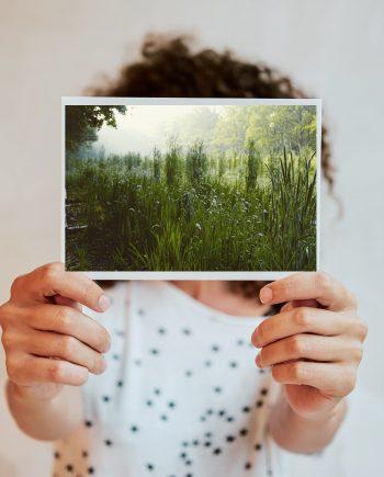 Fotokaarten worden op FSC papier geprint