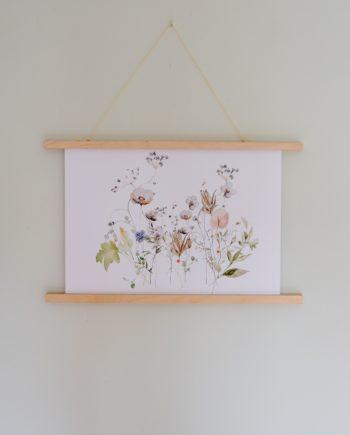 wildflowers art print met ophangsysteem