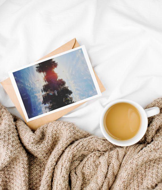 Duurzame fotokaart golden hour
