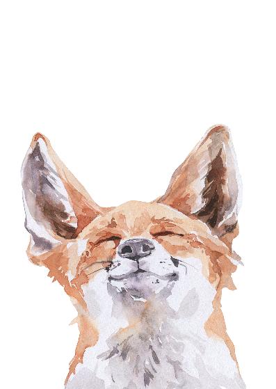 Duurzame kaart happy fox