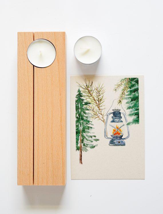 Duurzame houten kaarthouder