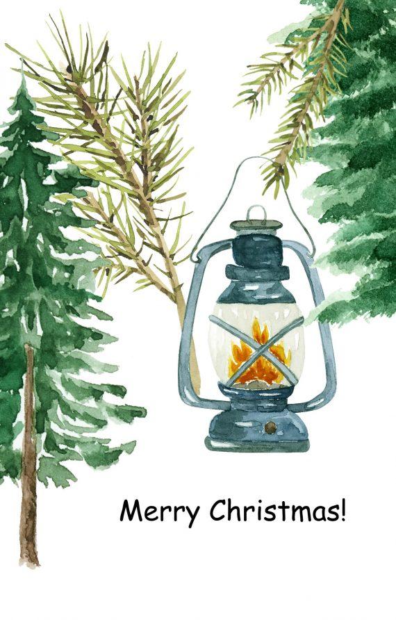Duurzame kerstkaart merry christmas